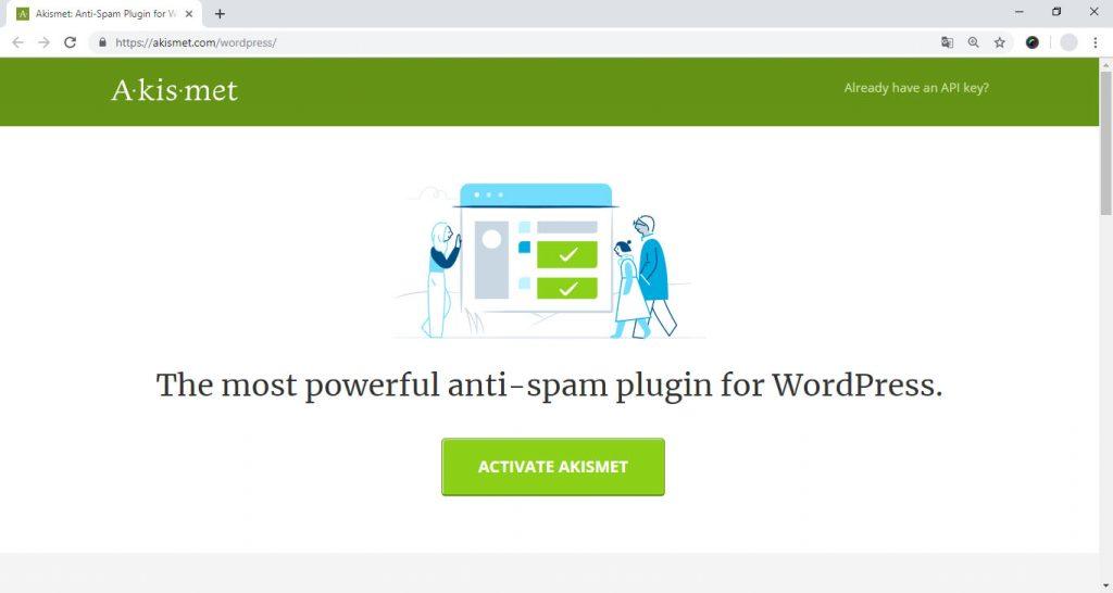 Activando Akismet en nuestro WordPress