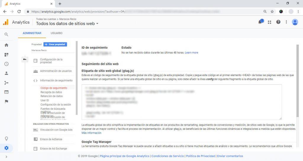 Creando una cuenta en Google Analytics
