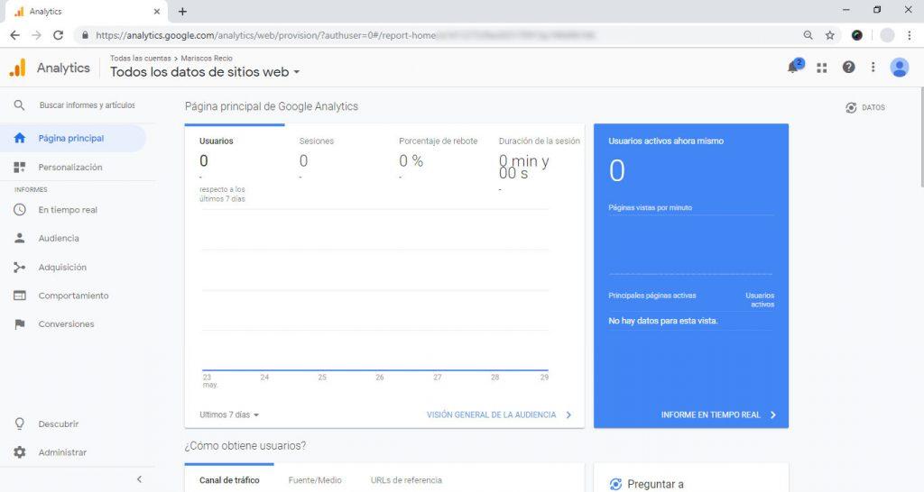 Instalando el módulo Analytics en Prestashop 1.7