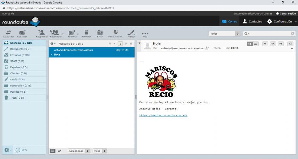 Cómo configurar la firma de correo en Roundcube